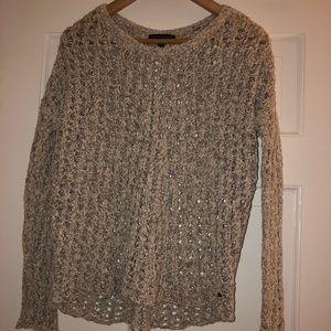 Open-Crochet Sweater